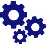 Icon of 3 interlocking gears